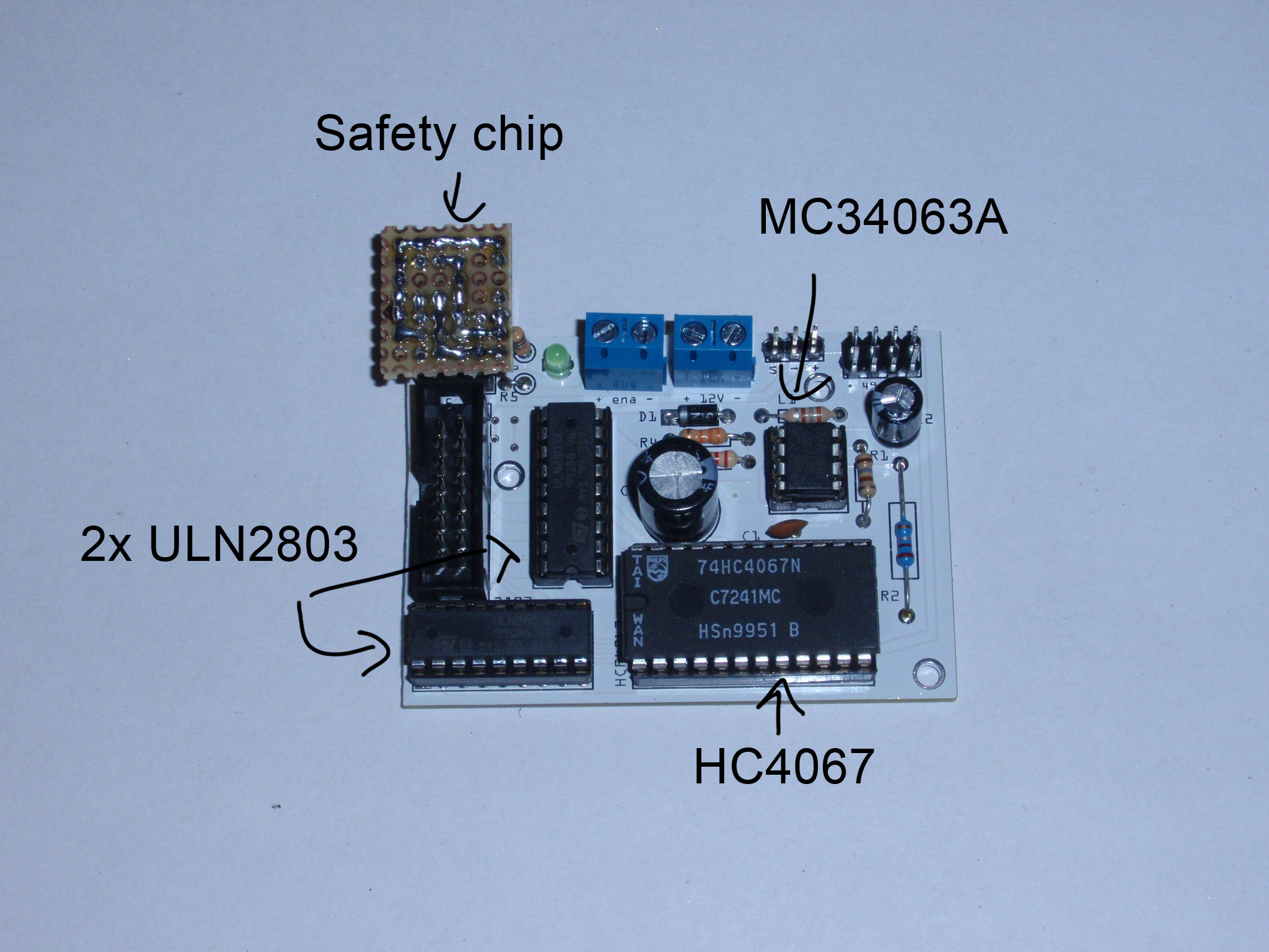 Electronics For Plan B Ytec 3d Relay Uln2803 Circuit 8 Ics